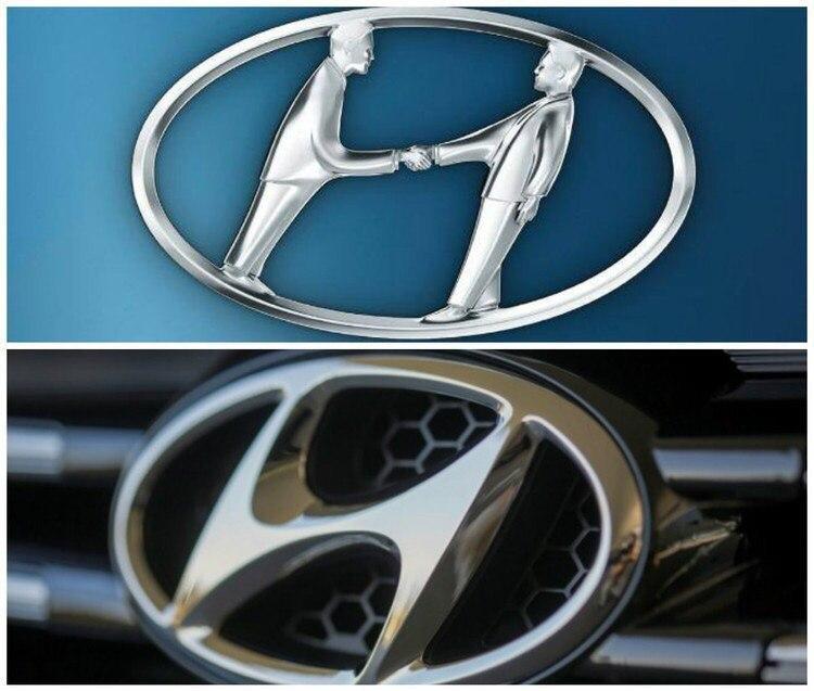 ЛОГОТИП HYUNDAI Представляя эмблему компании Hyundai, большинство людей сразу же вспоминают букву «H». Но есть и другой, дополнительный смысл: эмблема также символизирует двух людей, обменивающихся рукопожатием — представитель компании с одной стороны и удовлетворенный клиент с другой, а овал вокруг них обозначает глобальную идею присутствия Hyundai в мире. И, между прочим, корейское слово «Hyundai» переводится как «современный», что полностью соответствует прогрессивному лозунгу бренда — «Новое мышление. Новые возможности».